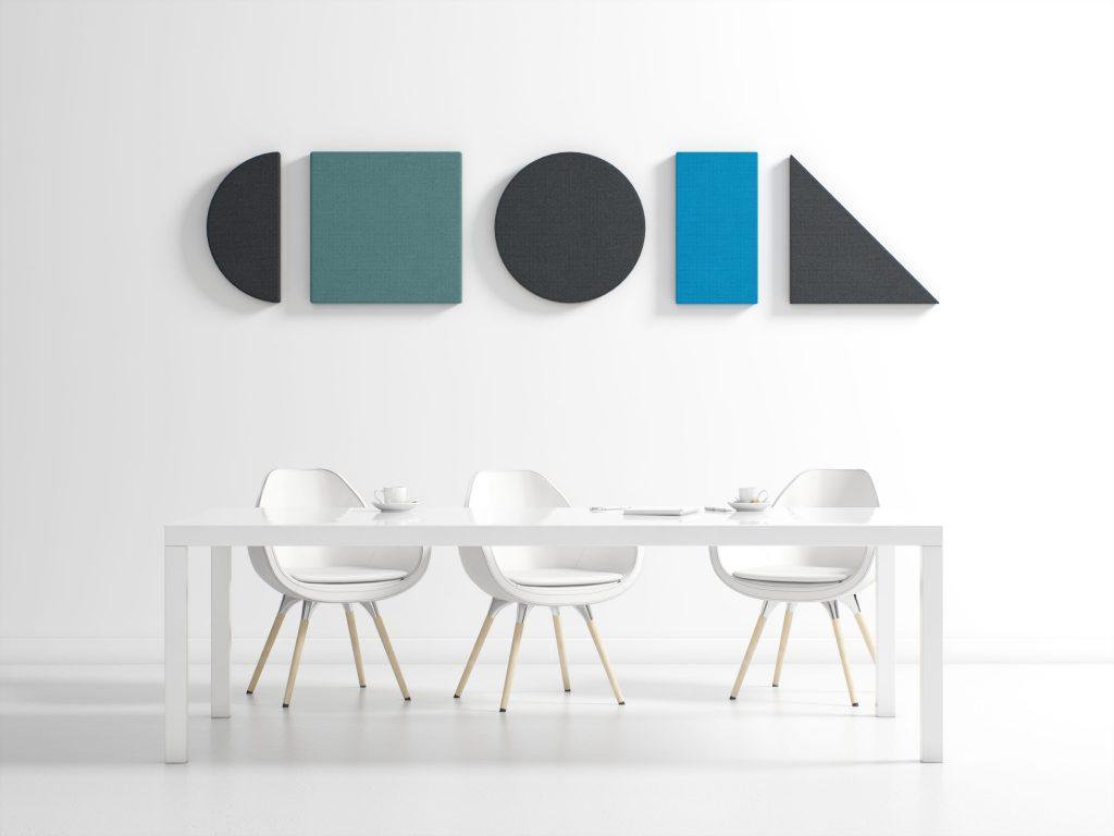 Akustiklösungen für's Büro: Die Akustikpaneele von Hush absorbieren nicht nur Hall, sondern sehen auch toll aus